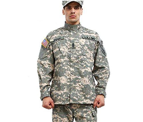 Noga Camouflage Suit Combat Bdu Uniform Military Uniform Bdu Hunting Suit Wargame Paintball Coat+pants (ACU CAMO, XXL)
