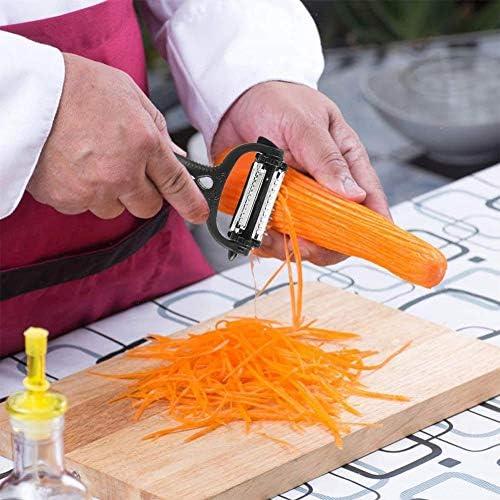 Weiyiroty Multifunktionaler Gemüseschäler, 2 Stück Schäler für die Küche, tragbarer Gemüsefruchtschäler für die Küche