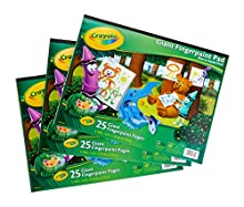 """Crayola 3 Giant Fingerpaint Pads, Each 25 Pages, 16"""" X 12""""Gift, 3 Pack, Gift"""