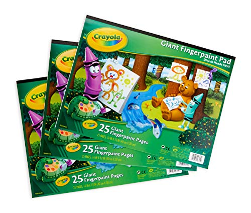 Crayola 3 Giant Fingerpaint Pads, Each 25 Pages, 16