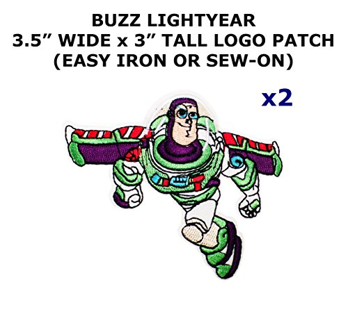 2 PCS Buzz Lightyear Toy Story Cartoon Theme DIY Iron / Sew-on Decorative Applique (Toy Story Alien Costume Diy)