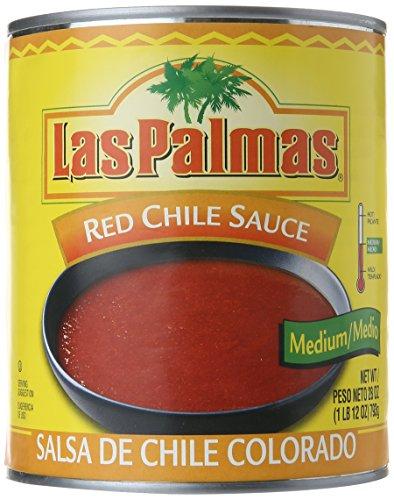 Las Palmas Red Chile Sauce, Medium, 28 Ounce (Pack of 12) Las Palmas Chili Sauce