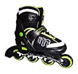 Best Mongoose Inline Skates For Boys - Mongoose Adjustable Inline Skates- Green, Green/Gray/Black, Size 1-4 Review