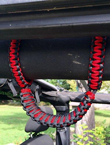 Jeep Rollbar Grab Handles (red)