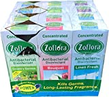 12 x Zoflora Antibacterial Disinfectant 120ml - 4 Linen Fresh - 2 Lavender - 4 Country Garden - 2 Bouquet - Concentrate Bottles