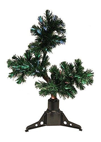By DAK 2' Pre-Lit Fiber Optic Bonsai-Style Artificial Pine Christmas Tree - Multi (Christmas Fibre 2ft Optic Tree)