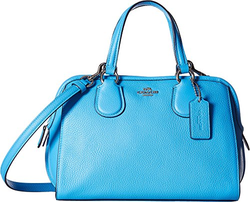 COACH Women's Polished Pebble Leather Mini Nolita Satchel Sv/Azure One Size by Coach