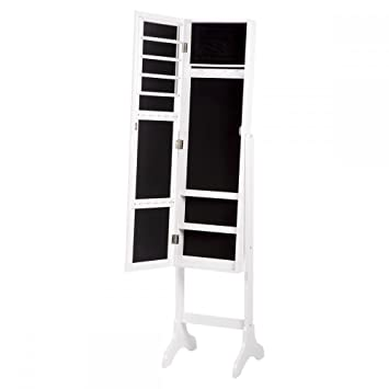 Amazoncom Lockable Mirrored Jewelry Cabinet Armoire Mirror