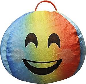 Amazon Com Emoji Pals Emoji Bashful Amp Blushful Bean Bag