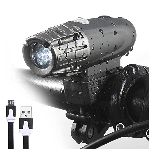 Bicycle Front Waterproof Rechargeable Headlight