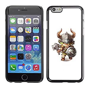 Planetar® ( Viking Axe Hammer Horns Kids Character ) Apple iPhone 6 Plus(5.5 inches)Fundas Cover Cubre Hard Case Cover
