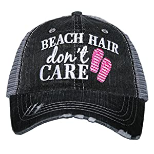 Beach Hair Don't Care FLIP FLOPS Women's Trucker Hats Caps