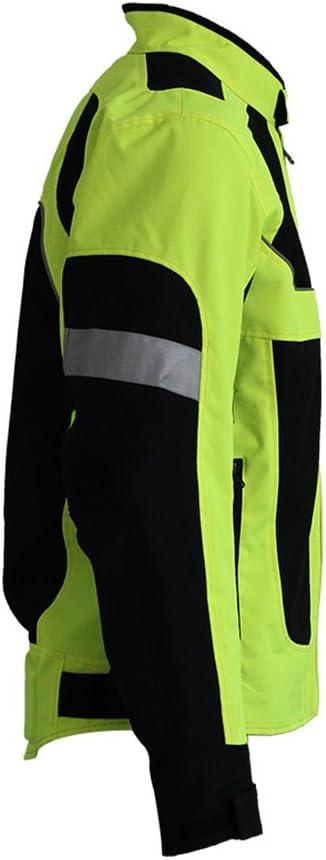 LKN Atmungsaktive Sommer-Motorrad-Rennjacke Kleidung mit sch/ützendem Arm