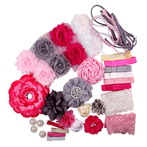 Fabric Fun Baby Kits (Candygirl Fashion Headband Kit - Baby Shower Games Headband Station Party Supplies for DIY Hair Bow Maker - Paris Inspired Collection)