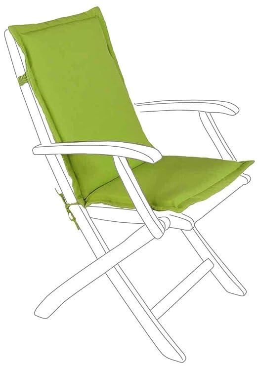 Cojín para silla con respaldo medio verde: Amazon.es: Jardín