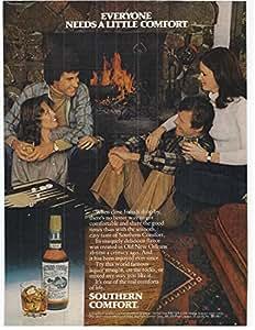 1981 Vintage Scotch Advertisement Southern Comfort Drinks