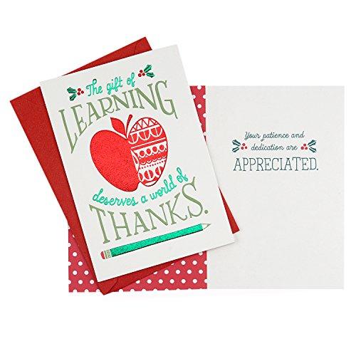 Christmas Cards For Teachers.Hallmark Christmas Cards Assortment For Teachers Or Import