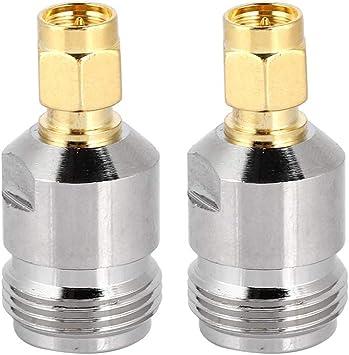 Bewinner 2 Piezas N SMA Hembra a Conector Macho, Adaptador de Antena Coaxial de Alta Frecuencia/Baja Pérdida/Baja Impedancia para Aplicaciones de RF, ...