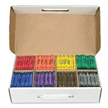 Prang Crayon Master Pack, Standard Size, Box of 800 Crayons, 100 of Each Color, 8 Assorted Colors (32350)