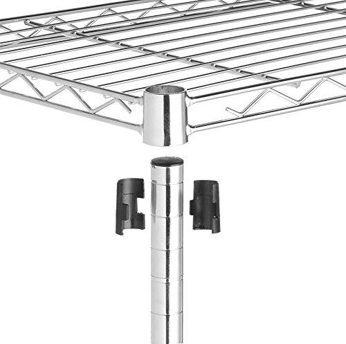 AmazonBasics 5-Shelf Shelving Unit - Chrome by AmazonBasics (Image #4)