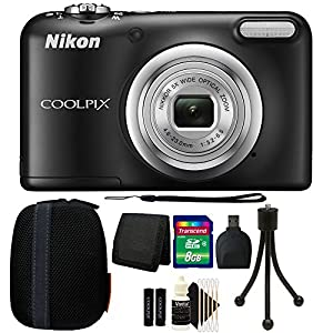 Nikon COOLPIX A10 16.1 MP Compact Digital Camera (Black) with 8GB 2017 Accessory Bundle