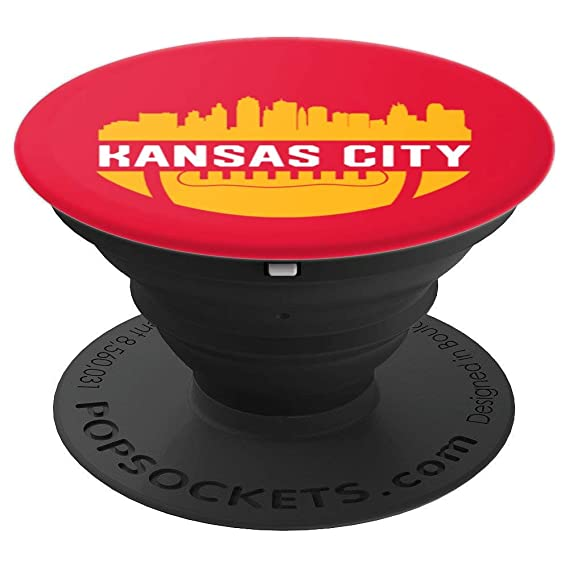 84a208f7767 Image Unavailable. Image not available for. Color  Vintage Downtown Kansas  City MO Skyline Football PopSocket - PopSockets Grip ...