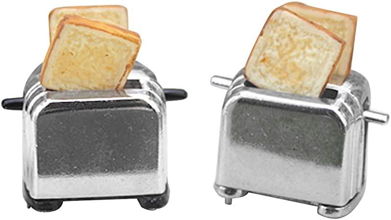 Dolls house toaster 1:12 Doll House Accessories Kitchen Appliances Breakfast Decorations