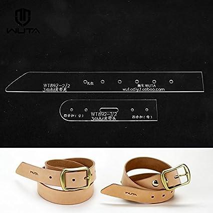 amazon com wuta leather unisex belt pattern acrylic template set