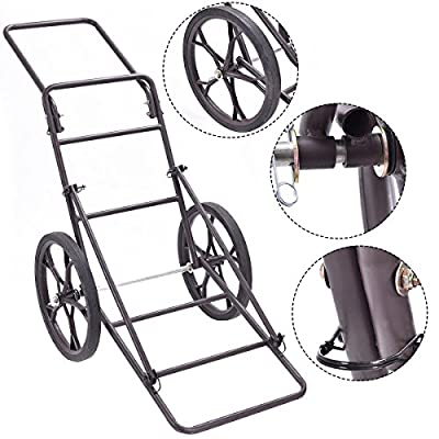 Goplus Folding Deer Game Cart Larger Capacity 500lbs Hauler Utility Gear Dolly Cart Hunting Accessories