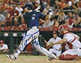Autographed Manny Pina 8x10 Milwaukee Brewers Photo