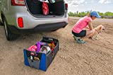Heavy Duty Car Trunk Organizer 2-Pack. Busy Life Foldable Organizer for Auto, Garage, Entryway or Grocery Store. Best on the Market. Clever Elastic Band Makes Transporting Easy. (2 Units)