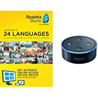 Rosetta Stone 1-user 24-month Subscription with Echo Dot
