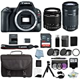 Canon EOS Rebel SL2 Bundle With Canon EF-S 18-55mm IS STM & EF-S 55-250mm IS STM Lens + Canon SL2 Camera Deluxe Accessory Kit - Canon SL2 Bundle Includes EVERYTHING You Need To Get Started
