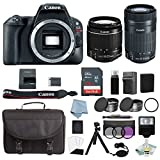 Cheap Canon EOS Rebel SL2 Bundle With Canon EF-S 18-55mm IS STM & EF-S 55-250mm IS STM Lens + Canon SL2 Camera Deluxe Accessory Kit – Canon SL2 Bundle Includes EVERYTHING You Need To Get Started