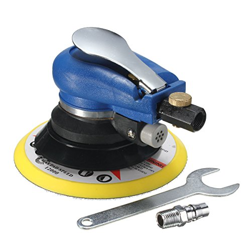 Jeteven 6'' Air Random Orbital Sander Pneumatic Disc Polisher Hand Power Grinding Sanding Tool Kit with Wrench
