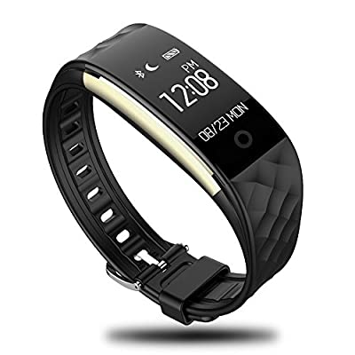 Lattie Fitness Tracker, Smart Bracelet with Heart Rate Monitor Bluetooth Wireless Step Counter Sleep Monitor Activity Health Tracker Pedometer Wristband for iOS & Android Smartphone