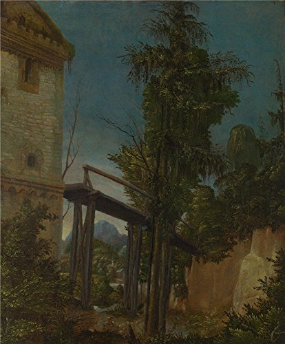 Oil Painting 'Albrecht Altdorfer-Landscape With A Footbridge,about 1518-20' 20 x 24 inch / 51 x 61 cm , on High Definition HD canvas prints is for Gifts And Dining Room, - Shopping Center Westland
