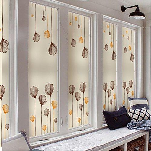 LCYCN 3D Non-Adhesive Window Films, Privacy Film Static Decorative Film Heat Control Anti UV Glass Stickers,80120 ()