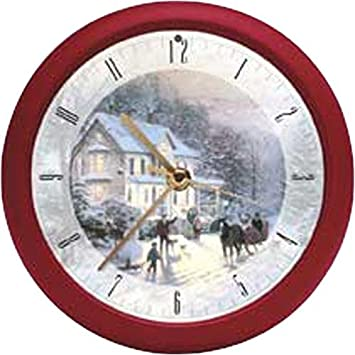 Mark Feldstein Thomas KINKADE Christmas CAROL Holiday WALL Clock music