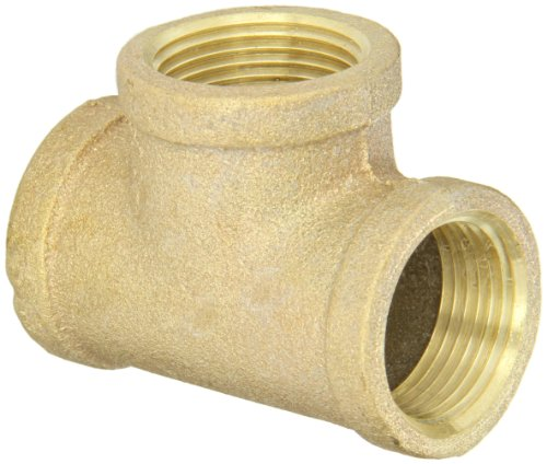 Anderson Metals 38101 Red Brass Pipe Fitting, Tee, 1