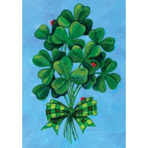 Toland Home Garden Shamrock Bouquet 28 x 40-Inch Decorative USA-Produced House Flag