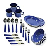 Stansport 11220 Enamel Tableware Assorted 24 Piece Set