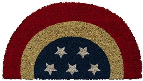 - Evergreen Flag Patriotic Bunting Coir Doormat