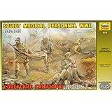 Zvezda Models 1/35 Soviet Medical Troops WWII (5 Figures Set and Stretcher) (japan import)