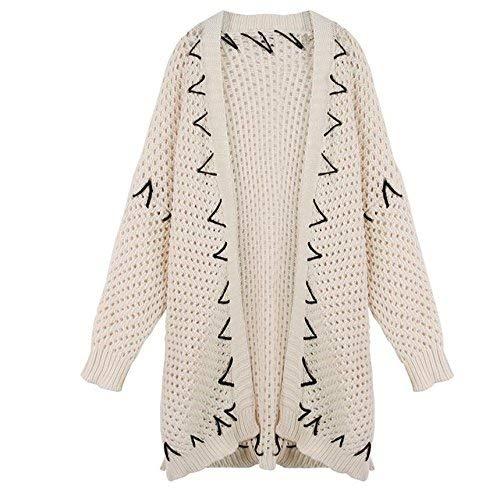 Mieuid Veste Confortables Chic Cardigan Tricot Longues Manches Tricot Femme en Loisir Longues Large Chaud rwq1xIrC