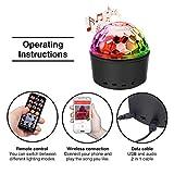 Hocossy Portable LED Disco Ball Night Lamp MP3 Music Bluetooth Speaker 9colors 3 Modes Dance RGB Hall Strobe Light Mini USB LED Stage Light