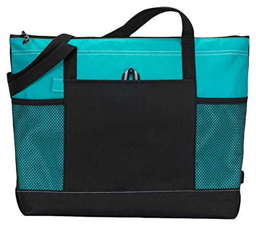 Price comparison product image Bodek And Rhodes 80279480 1100 Gemline Select Zippered Tote Turquoise - One