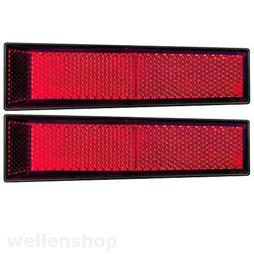 5x Reflektor Katzenauge Rückstrahler Rot konisch 125 x 35 x 18mm