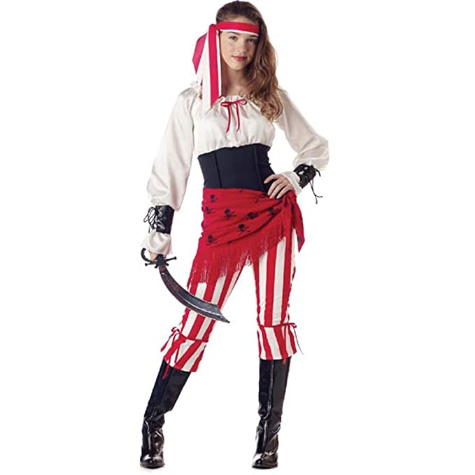 sc 1 st  Amazon.com & Amazon.com: Teen Pirate Princess Halloween Costume (Teen 3-5): Clothing