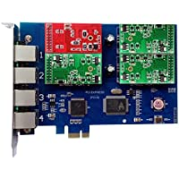 Analog Card with 1 FXO +3 FXS Ports,PCI Express (PCI-E) Connector,For Elastix,Freepbx